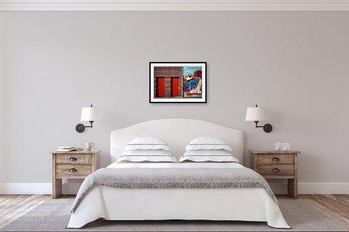 תמונה לחדר שינה - עידן גיל - גרפיטי - מק''ט: 228673