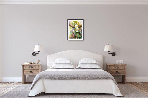 תמונה לחדר שינה - חיה וייט - נרקיסים - מק''ט: 229874