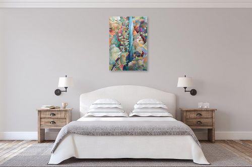 תמונה לחדר שינה - חיה וייט - ענבים וסורג - מק''ט: 229883