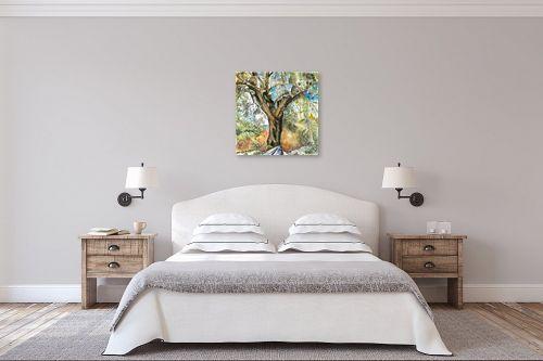 תמונה לחדר שינה - חיה וייט - עץ זית עתיק - מק''ט: 229911