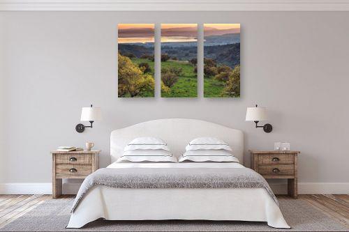 תמונה לחדר שינה - מיכאל שמידט - הטבע בצבעי פסטל - מק''ט: 230117