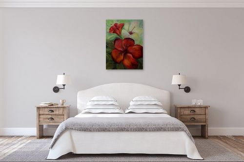 תמונה לחדר שינה - שרה וולקוב - היביסקוס - מק''ט: 236281