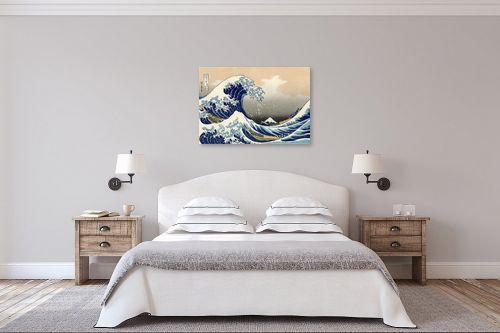 תמונה לחדר שינה - קצושיקה הוקוסאי - The great wave - מק''ט: 240101