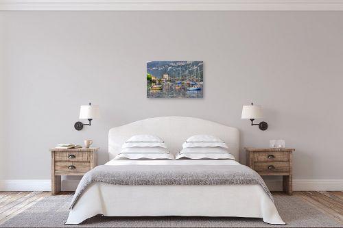 תמונה לחדר שינה - אורי ברוך - מעגן סירות - אגם קומו - מק''ט: 240486