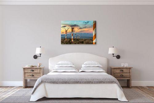 תמונה לחדר שינה - מיכאל שמידט - החרמון בשקיעה - מק''ט: 252507