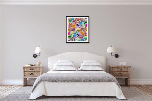 תמונה לחדר שינה - ויקטוריה רייגירה - שבלולים - מק''ט: 252666