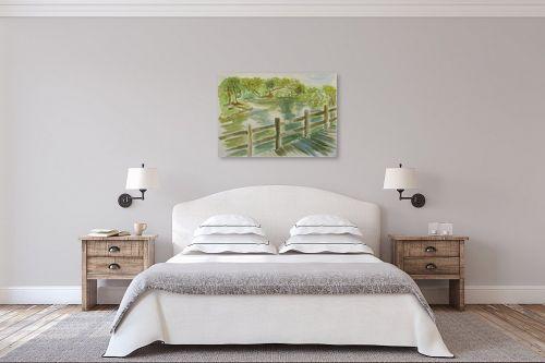 תמונה לחדר שינה - רינה יניב - על גדות הירקון - מק''ט: 255491