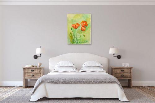 תמונה לחדר שינה - רינה יניב - פרגים בשדה - מק''ט: 255495