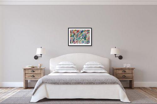 תמונה לחדר שינה - אירית שרמן-קיש - גרפיטי - מק''ט: 260377