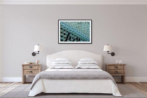 תמונה לחדר שינה - דורית ברקוביץ - משושים - מק''ט: 263704