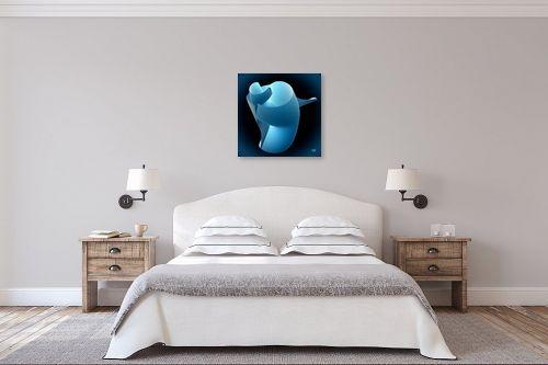 תמונה לחדר שינה - ויקטוריה רייגירה - חיבוק תכלת - מק''ט: 270223