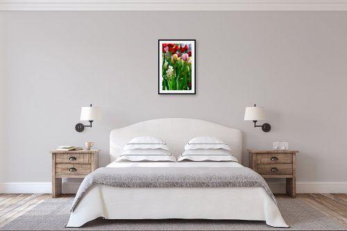 תמונה לחדר שינה - אורית גפני - פרחים מהודרים - מק''ט: 270478