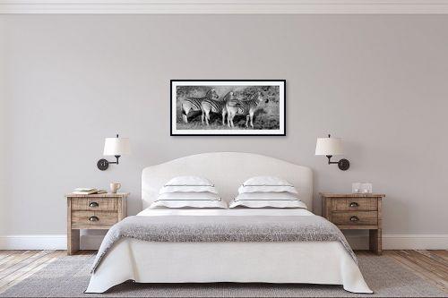 תמונה לחדר שינה - שי וייס - שלוש זברות בשורה - מק''ט: 271589