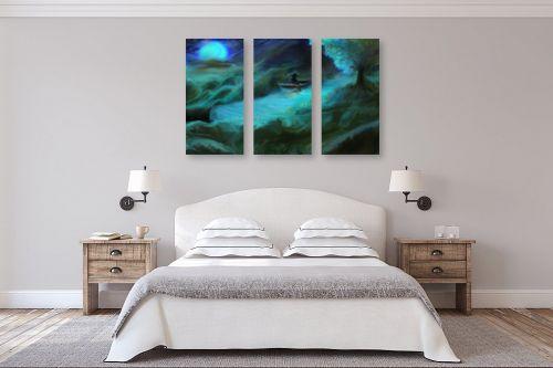תמונה לחדר שינה - אורי רדלר - דיג ירח כחול - מק''ט: 279030