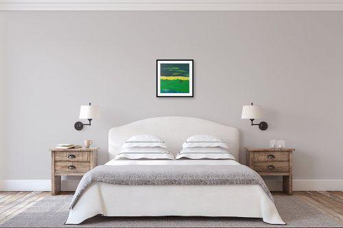 תמונה לחדר שינה - ורד אופיר - שדה ירוק - מק''ט: 280899