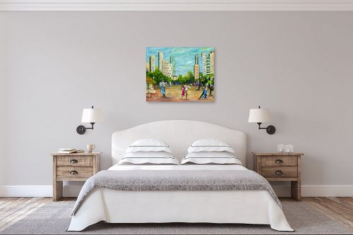תמונה לחדר שינה - רוחלה פליישר - רוקדים בככר העיר-בחברותא - מק''ט: 283198