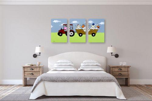 תמונה לחדר שינה - נריה ספיר - חיות בחווה - מק''ט: 284499