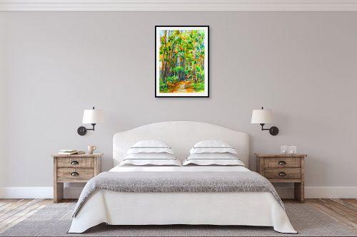 תמונה לחדר שינה - חיה וייט - שביל ביער - מק''ט: 285558