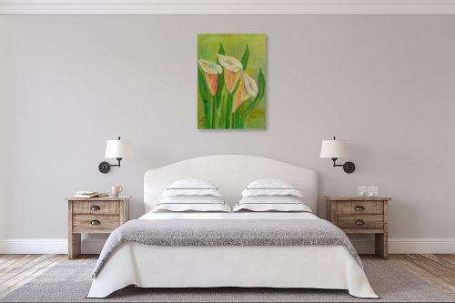 תמונה לחדר שינה - רינה יניב - פרחי קאלות - מק''ט: 285640