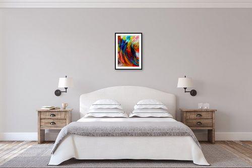 תמונה לחדר שינה - אסתר חן-ברזילי - סימפוניה בצבעים - מק''ט: 286351