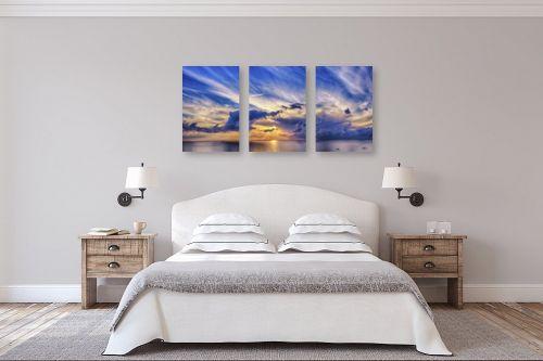 תמונה לחדר שינה - DnD Production - כתום ואדום - מק''ט: 289235