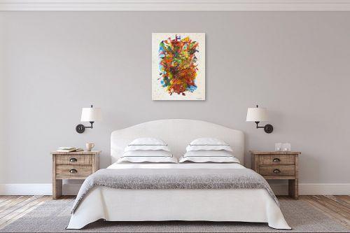 תמונה לחדר שינה - חיים מחט - זר פרחים - מק''ט: 291801