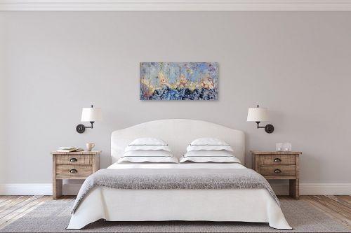 תמונה לחדר שינה - חוה מזרחי - פריחת השלג - מק''ט: 295429