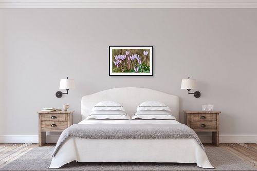 תמונה לחדר שינה - טניה קלימנקו - רקפות - מק''ט: 296841