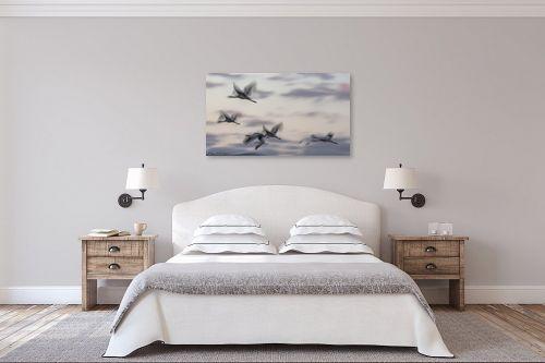 תמונה לחדר שינה - דורית ברקוביץ - מעוף העגורים - מק''ט: 298659