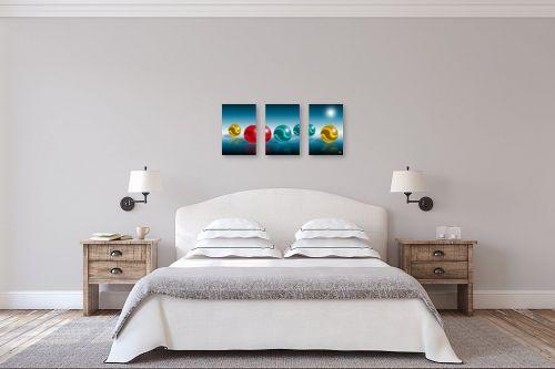 תמונה לחדר שינה - ויקטוריה רייגירה - כדורי תקשורת - מק''ט: 300463