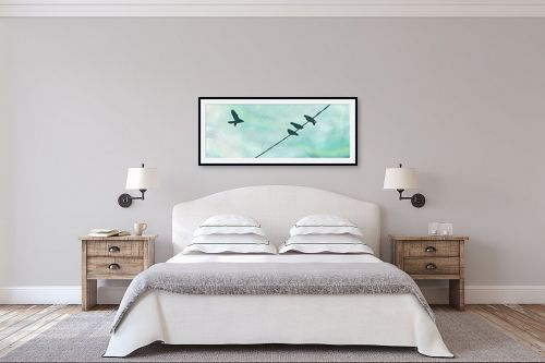 תמונה לחדר שינה - נעמי עיצובים - יונים בסתיו - מק''ט: 301935