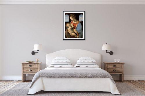 תמונה לחדר שינה - לאונרדו דה וינצי - Madonna LItta - מק''ט: 303471