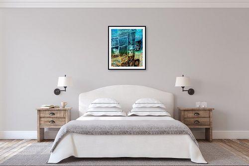 תמונה לחדר שינה - אורית גפני - שטיח של ים וחול - מק''ט: 303851