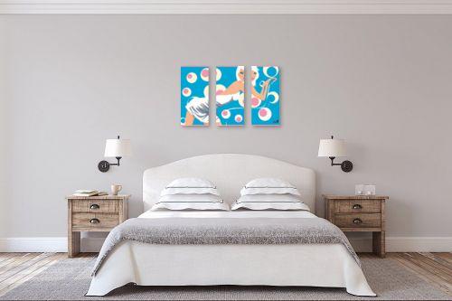 תמונה לחדר שינה - חנן אביסף - דוגמנית רטרו על כיסא - מק''ט: 304272