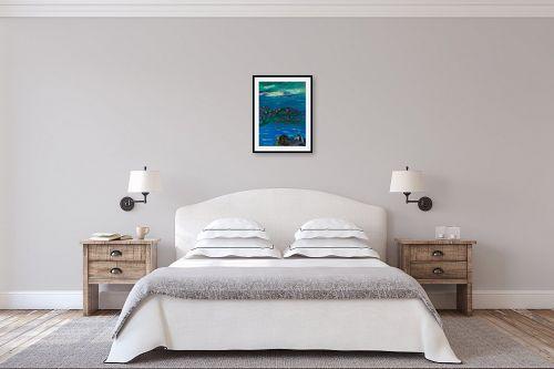 תמונה לחדר שינה - אסתר חן-ברזילי - פריחה לחוף ים - מק''ט: 306242
