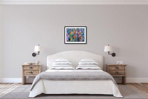 תמונה לחדר שינה - בן רוטמן - בקבוקים או בתים, או? - מק''ט: 308067