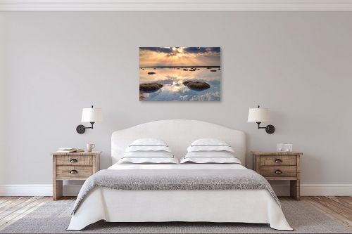 תמונה לחדר שינה - ניקולאי טטרצ'וק - זריחה בים המלח - מק''ט: 308331