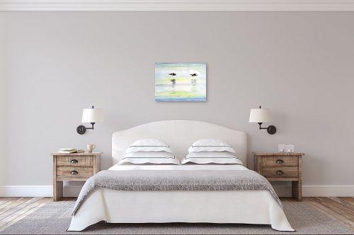 תמונה לחדר שינה - חיה וייט - מעוף צפורים - מק''ט: 308652