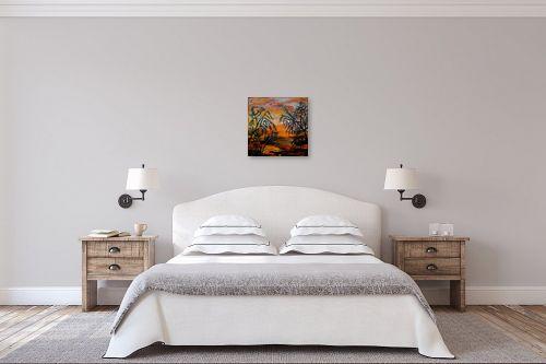 תמונה לחדר שינה - אסתר חן-ברזילי - שקיעה באפריקה - מק''ט: 310311
