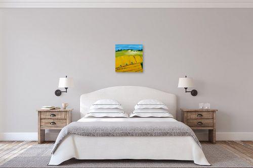 תמונה לחדר שינה - ורד אופיר - שדה בטבע - מק''ט: 313208
