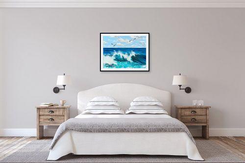 תמונה לחדר שינה - נריה ספיר - הגל - מק''ט: 313524