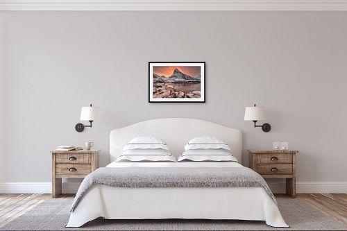 תמונה לחדר שינה - דורית ברקוביץ - זריחה קפואה - מק''ט: 314553