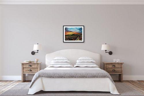 תמונה לחדר שינה - דיאנה אורן - שקיעה מעל הגבעה - מק''ט: 315948