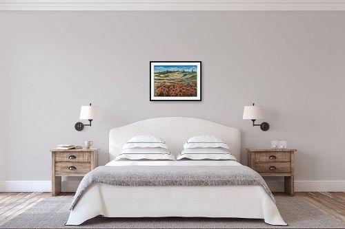 תמונה לחדר שינה - דיאנה אורן - מרבד פרגים - מק''ט: 316283