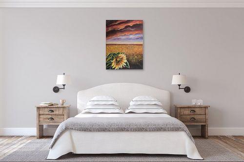 תמונה לחדר שינה - דיאנה אורן - חמניה - מק''ט: 316284