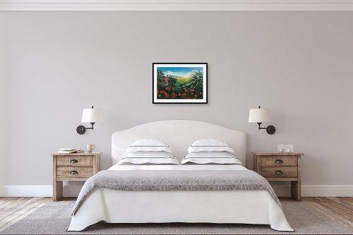 תמונה לחדר שינה - מזל בוכריס - שדה כלניות - מק''ט: 316339