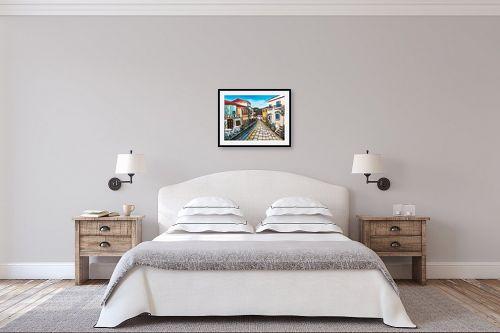 תמונה לחדר שינה - מזל בוכריס - גגות אדומים - מק''ט: 316447