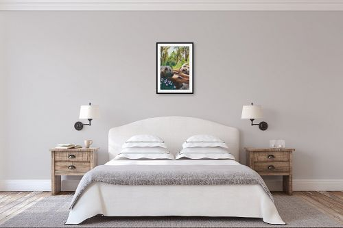 תמונה לחדר שינה - אסתר טל - רקפות - מק''ט: 316557