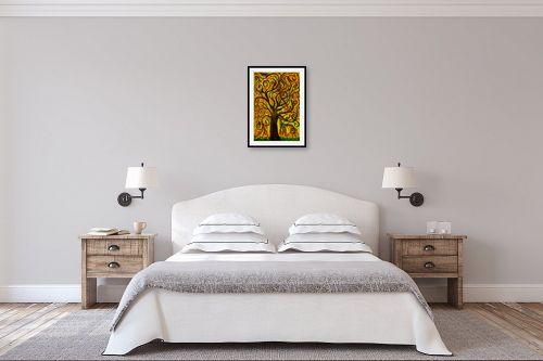 תמונה לחדר שינה - אסתר חן-ברזילי - עץ מסולסל - מק''ט: 317250