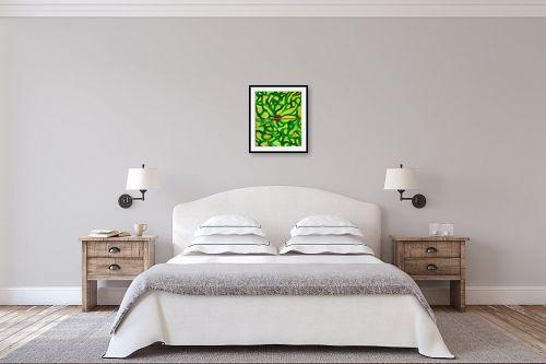תמונה לחדר שינה - אסתר חן-ברזילי - לב זהב - מק''ט: 319091